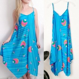 Julie Brown NYC Striped Fish Print Midi Sun Dress
